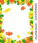 frame autumn leaves | Shutterstock .eps vector #1141909640