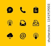 communication icon set. at ... | Shutterstock .eps vector #1141919003