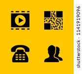 communication icon set. phone...