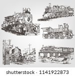 a set of sketches of a... | Shutterstock .eps vector #1141922873