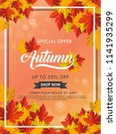 autumn vector background... | Shutterstock .eps vector #1141935299
