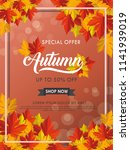 autumn vector background... | Shutterstock .eps vector #1141939019