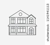house line style icon. black...   Shutterstock .eps vector #1141941113