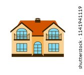 house color flat icon isolated...   Shutterstock .eps vector #1141941119