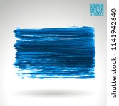 blue brush stroke and texture.... | Shutterstock .eps vector #1141942640