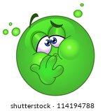 emoticon with nausea | Shutterstock .eps vector #114194788