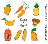 orange and yellow cartoon... | Shutterstock .eps vector #1141949963
