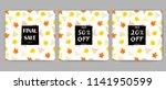 autumn sale posters set....   Shutterstock .eps vector #1141950599