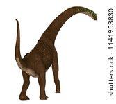 giraffatitan dinosaur tail 3d... | Shutterstock . vector #1141953830