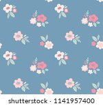 floral vector pattern. ditsy... | Shutterstock .eps vector #1141957400
