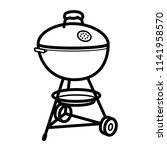 barbecue charcoal portable... | Shutterstock .eps vector #1141958570