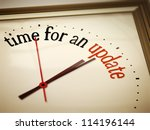 an image of a nice clock with... | Shutterstock . vector #114196144