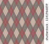 argyle pattern. simple... | Shutterstock . vector #1141966859
