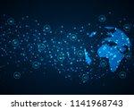 4g internet connection speed.... | Shutterstock .eps vector #1141968743