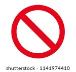 stop sign icon for digital and... | Shutterstock .eps vector #1141974410