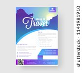 ready to travel template or... | Shutterstock .eps vector #1141981910