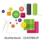 Sewing Kit With Buttons  Threa...
