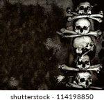 human skulls and bones  kutna... | Shutterstock . vector #114198850