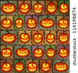 halloween shabby background...   Shutterstock .eps vector #114198874
