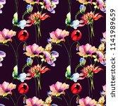 floral seamless wallpaper ...   Shutterstock . vector #1141989659