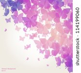 abstract butterfly background   ... | Shutterstock .eps vector #114199060