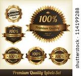 premium quality labels set | Shutterstock .eps vector #114199288