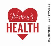 womens health logo with heart... | Shutterstock .eps vector #1141993886