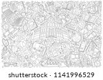 back to school doodle set... | Shutterstock .eps vector #1141996529