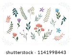 secret garden   floral vector... | Shutterstock .eps vector #1141998443