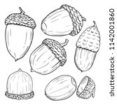 vector set of sketch forest...   Shutterstock .eps vector #1142001860