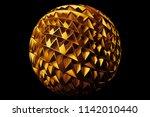 3d render metal isolated ... | Shutterstock . vector #1142010440