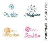 package dandelion logo template ... | Shutterstock .eps vector #1142016440