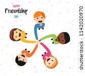 happy friendship day greeting... | Shutterstock .eps vector #1142020970