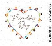 happy friendship day greeting... | Shutterstock .eps vector #1142020973