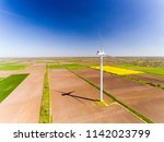 aerial view looking across wind ... | Shutterstock . vector #1142023799