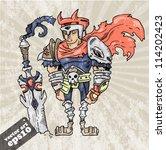fantasy warrior | Shutterstock .eps vector #114202423