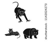 different animals black icons...   Shutterstock . vector #1142024273