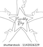 happy friendship day greeting... | Shutterstock .eps vector #1142026229