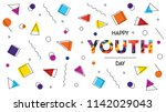 happy youth day web banner... | Shutterstock .eps vector #1142029043