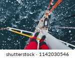 travel by sailing boat in... | Shutterstock . vector #1142030546