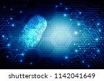 fingerprint scanning technology ... | Shutterstock . vector #1142041649