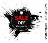 black friday sale. summer sale... | Shutterstock .eps vector #1142042696