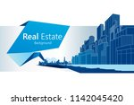 real estate background. vector... | Shutterstock .eps vector #1142045420