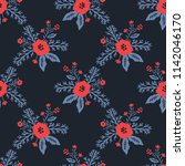 seamless pattern with... | Shutterstock .eps vector #1142046170