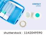 contact lens  contact lens case ...   Shutterstock . vector #1142049590