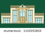classic facade house colored.... | Shutterstock .eps vector #1142052833