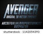 strong label typeface with... | Shutterstock .eps vector #1142054393