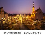 panoramic view of decorated and ... | Shutterstock . vector #1142054759