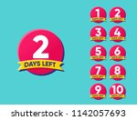 countdown number of 1 2 3 4 5 6 ... | Shutterstock .eps vector #1142057693