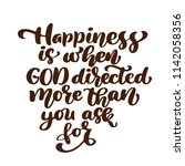 happiness is when god directed... | Shutterstock .eps vector #1142058356
